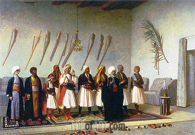 Prayer in the House of an Arnaut Chief, 1857 | Gerome | Painting Reproduction