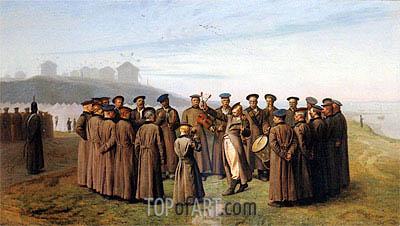 Gerome   Recreation in a Russian Camp. Remembering Moldavia, 1855
