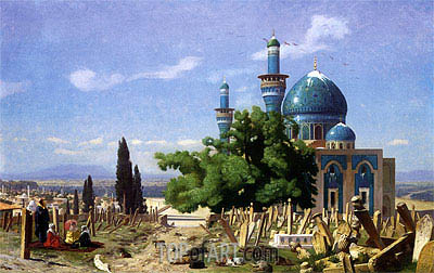 Gerome | The Green Mosque at Broussa, 1876