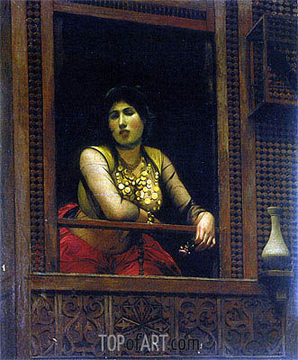 Woman at Her Window, 1888 | Gerome | Painting Reproduction