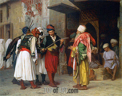 Travelling Merchant in Cairo, 1866 | Gerome| Painting Reproduction