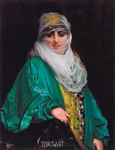 Woman from Constantinople, 1876 | Gerome | Painting Reproduction