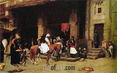 A Street Scene in Cairo, 1871 | Gerome | Painting Reproduction