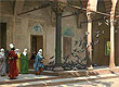 Gerome - Harem Women Feeding Pigeons in a Courtyard - Hand-Painted Fine Art Reproduction