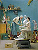 Working in Marble (The Artist Sculpting Tanagra) | Jean Leon Gerome