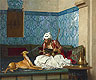 A Joke (Arnaut Blowing Tobacco Smoke at the Nose of His Dog) | Jean Leon Gerome