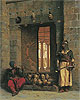 The Doorway to the Mosque El Assaneyn in Cairo where the heads of the Rebel Beys were exposed by Salek-Kachef | Jean Leon Gerome