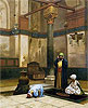 Three Worshippers Praying in a Corner of a Mosque | Jean Leon Gerome