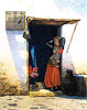 Woman of Cairo at Her Door | Jean Leon Gerome