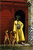 An Arab and His Dogs | Jean Leon Gerome