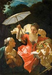 Vertumnus and Pomona, c.1710/22 von Jean Ranc | Gemälde-Reproduktion