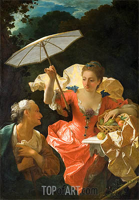 Vertumnus and Pomona, c.1710/22 | Jean Ranc| Painting Reproduction
