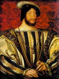Portrait of Francis I, Roi de France, c.1525/30 by Jean Clouet | Painting Reproduction