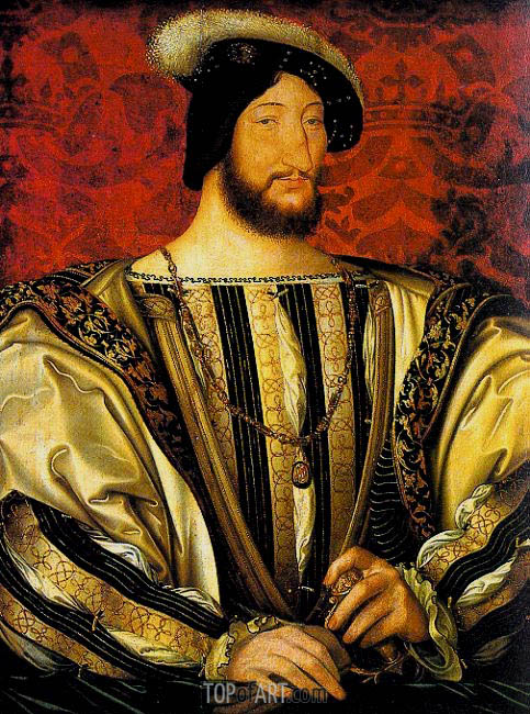 Portrait of Francis I, Roi de France, c.1525/30 | Jean Clouet | Painting Reproduction