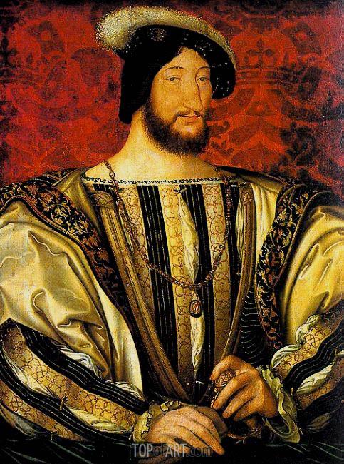 Jean Clouet | Portrait of Francis I, Roi de France, c.1525/30