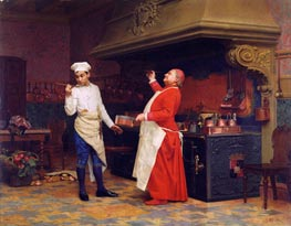The Marvelous Sauce, c.1890 by Jehan Georges Vibert | Painting Reproduction