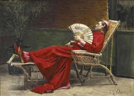 La Sieste, undated by Jehan Georges Vibert | Painting Reproduction