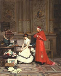 The Reproach, undated by Jehan Georges Vibert | Painting Reproduction