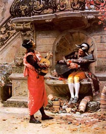 The Serenade | Jehan Georges Vibert | Painting Reproduction