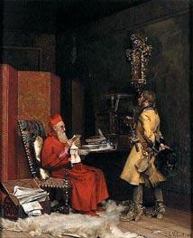 Un secret d'etat, 1875 von Jehan Georges Vibert | Gemälde-Reproduktion