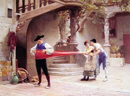 The Final Touch, undated by Jehan Georges Vibert | Painting Reproduction