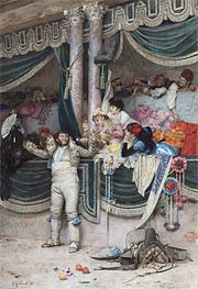 The Bullfighter's Adoring Crowd, Undated by Jehan Georges Vibert | Painting Reproduction