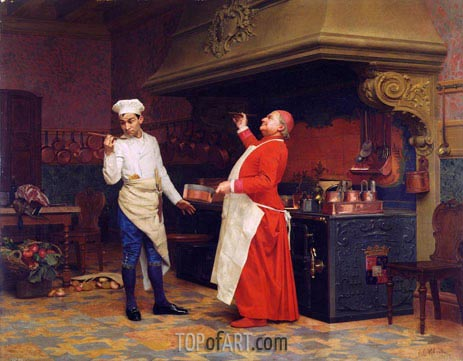 Jehan Georges Vibert | The Marvelous Sauce, c.1890