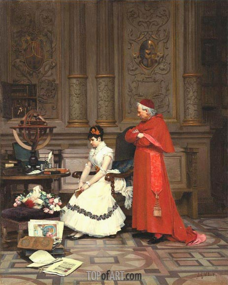 The Reproach, undated | Jehan Georges Vibert | Gemälde Reproduktion