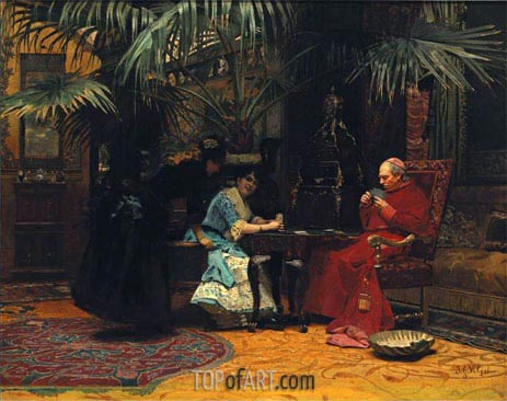 Jehan Georges Vibert | The Church in Danger, undated