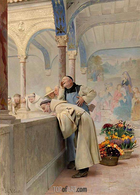 Un Scandale, 1889 | Jehan Georges Vibert | Painting Reproduction
