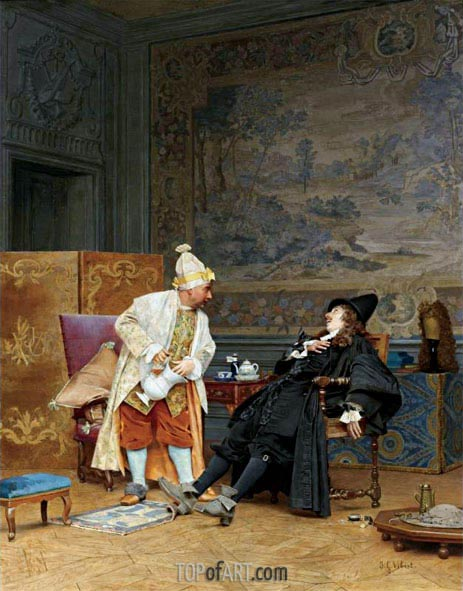 The Sick Doctor, 1892 | Jehan Georges Vibert | Painting Reproduction