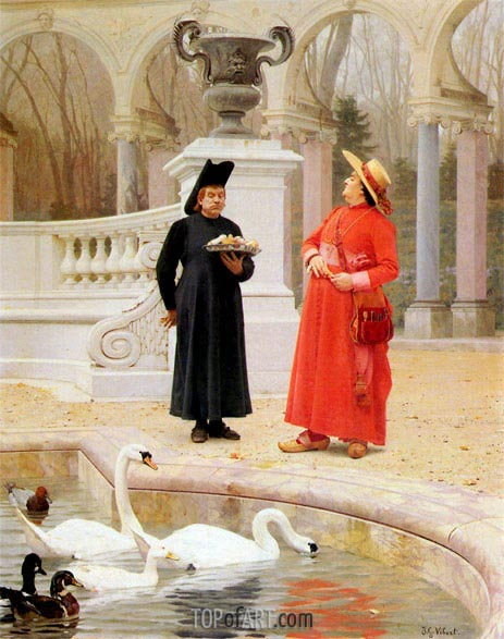 Jehan Georges Vibert | A Plate of Cakes, undated