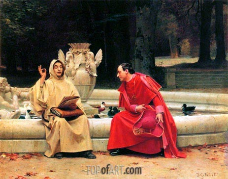 A Fine Point, undated | Jehan Georges Vibert | Gemälde Reproduktion