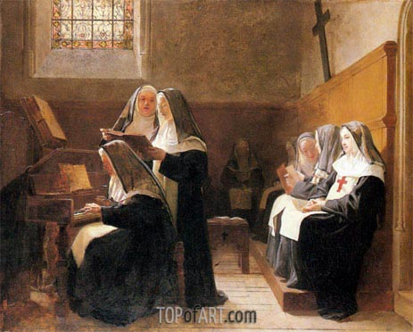 The Convent Choir, 1865 | Jehan Georges Vibert | Gemälde Reproduktion