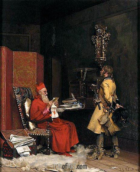 Un secret d'etat, 1875 | Jehan Georges Vibert | Painting Reproduction