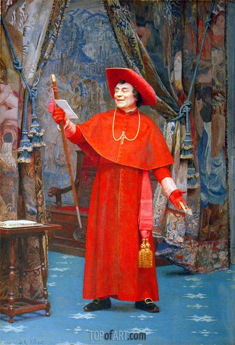 Cardinal Reading a Letter, undated | Jehan Georges Vibert | Painting Reproduction
