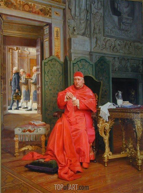 The Diet, undated | Jehan Georges Vibert | Painting Reproduction