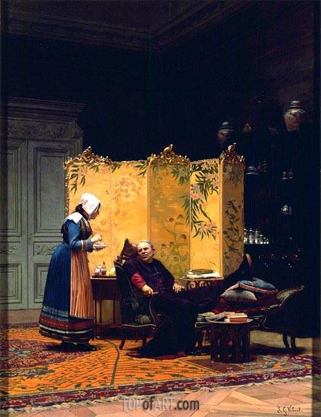 Jehan Georges Vibert | Tea for the Bishop, undated