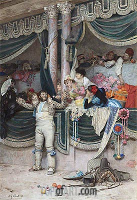 Jehan Georges Vibert | The Bullfighter's Adoring Crowd,