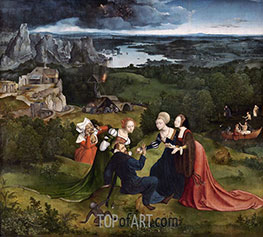 The Temptations of Saint Anthony the Abbot, c.1520/24 by Joachim Patinir | Painting Reproduction