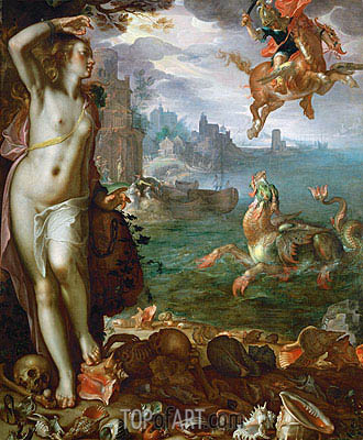 Perseus Rescues Andromeda, 1611 | Joachim Wtewael | Painting Reproduction