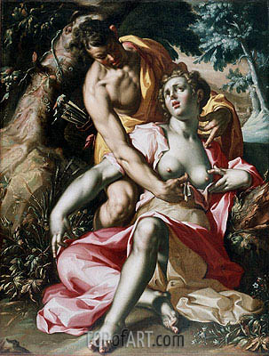 Cephalus and Procris (The Death of Procris), c.1595/00 | Joachim Wtewael| Painting Reproduction