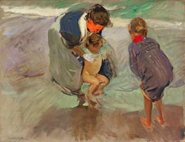 On the Beach, 1908 by Sorolla y Bastida | Painting Reproduction
