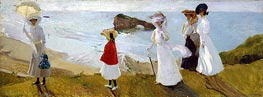 Lighthouse Walk at Biarritz, 1906 by Sorolla y Bastida | Painting Reproduction