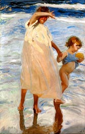 Two Sisters, Valencia, 1909 by Sorolla y Bastida | Painting Reproduction