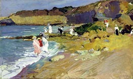 Beach Scene, 1906 by Sorolla y Bastida | Painting Reproduction