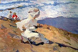 The Beach at Biarritz | Sorolla y Bastida | Painting Reproduction