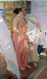 After the Bath (The Pink Robe) | Sorolla y Bastida | Painting Reproduction