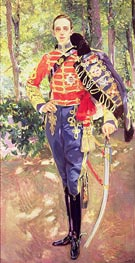 Portrait of King Alfonso XIII wearing the uniform of the Hussars | Sorolla y Bastida | Painting Reproduction