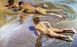 Children on the Beach | Sorolla y Bastida | outdated